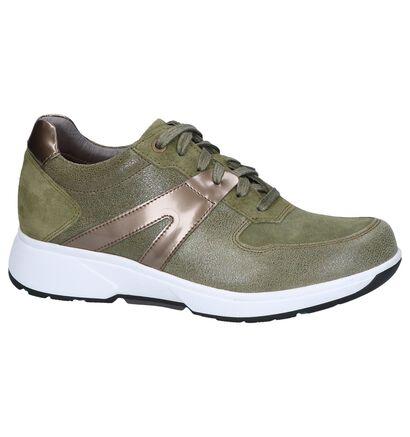 Xsensible Chaussures à lacets en Vert kaki en nubuck (246452)