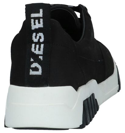 Diesel Baskets basses en Noir en cuir (225655)