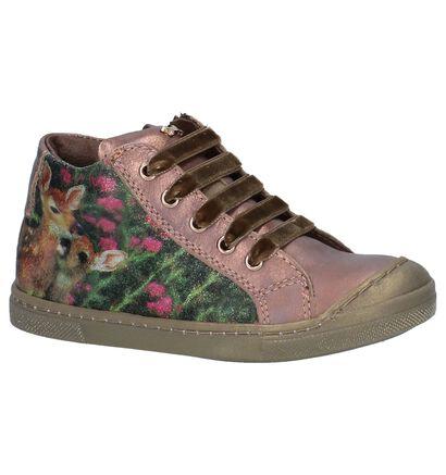 STONES and BONES Chaussures hautes en Or rose en cuir (223375)