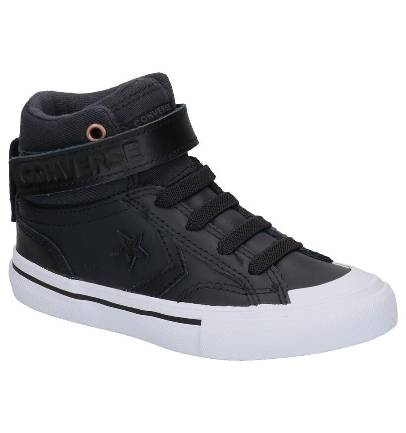 Converse Pro Blaze Zwarte Sneakers in leer (252734)