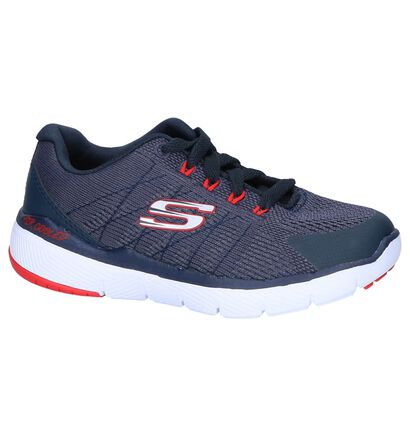 Donkerrode Sneakers Skechers Flex Advantage 3.0 in stof (250732)