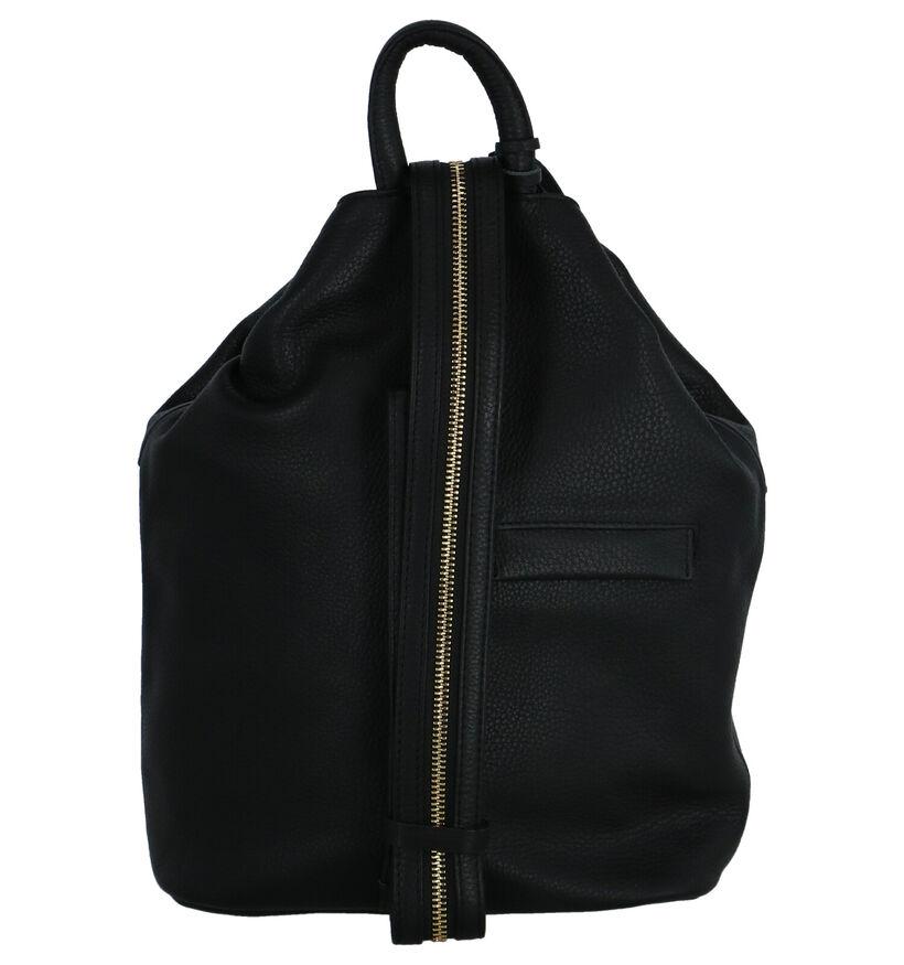 Crinkles Sacs à dos en Noir en cuir (261935)