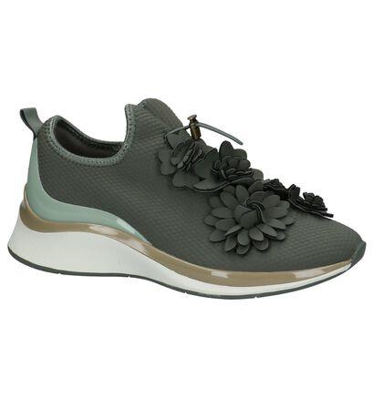 Tamaris TOUCH it Olijfgroene Sneakers in stof (222153)