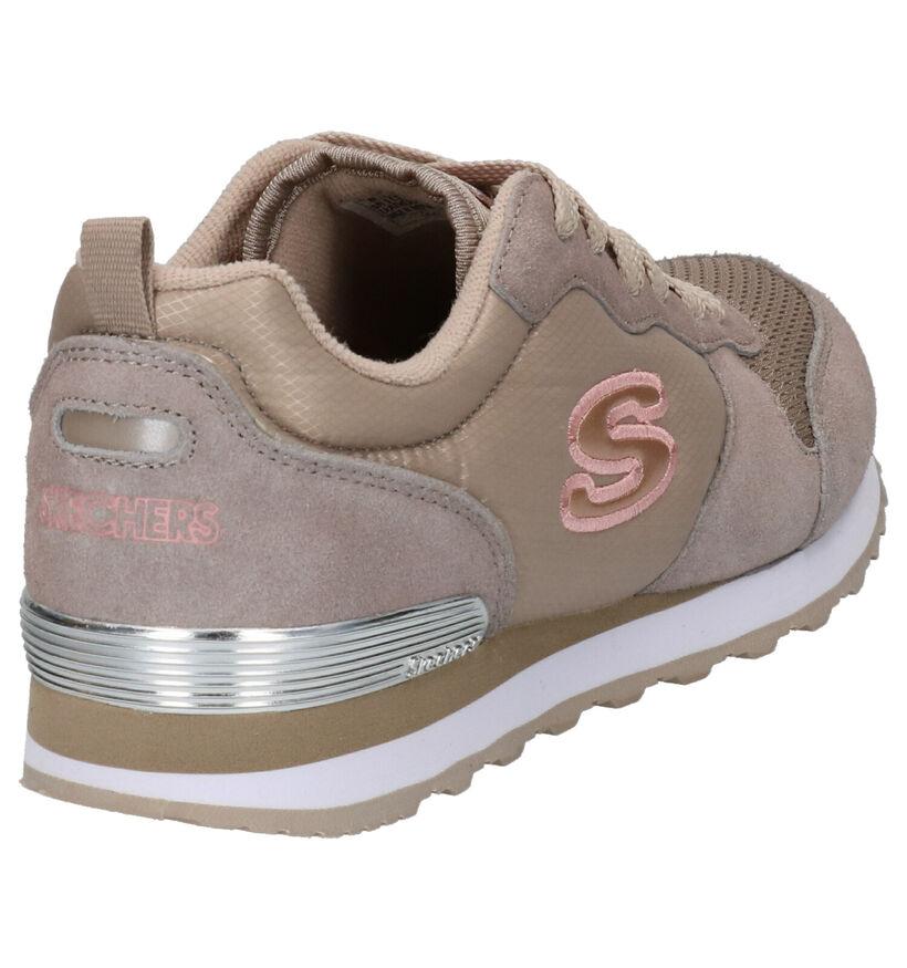 Skechers OG 85 Goldn' Gurl Blauwe Sneakers in stof (279384)
