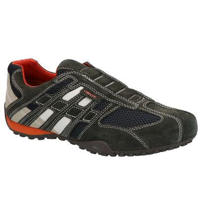 Geox Snake Chaussures en Vert/Gris en daim (266715)