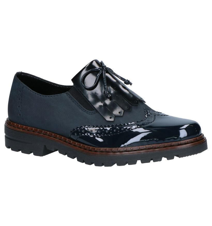 Rieker Chaussures slip-on en Bleu foncé en simili cuir (262102)