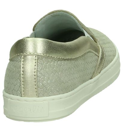 Beberlis Gouden Slip-On Sneakers in leer (194617)