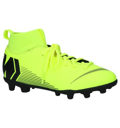Nike JR Superfly Fluo Gele Voetbalschoenen in kunstleer (235581)