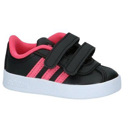 adidas VL Court 2.0 Zwarte Sneakertjes, Zwart, pdp