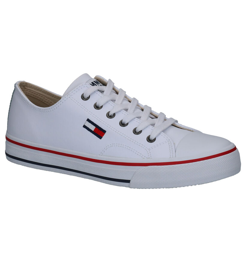 Tommy Hilfiger Leather City Witte Sneakers in kunstleer (264954)