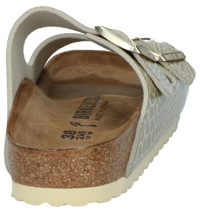 Birkenstock Arizona Nu-pieds en Gris en simili cuir (255838)