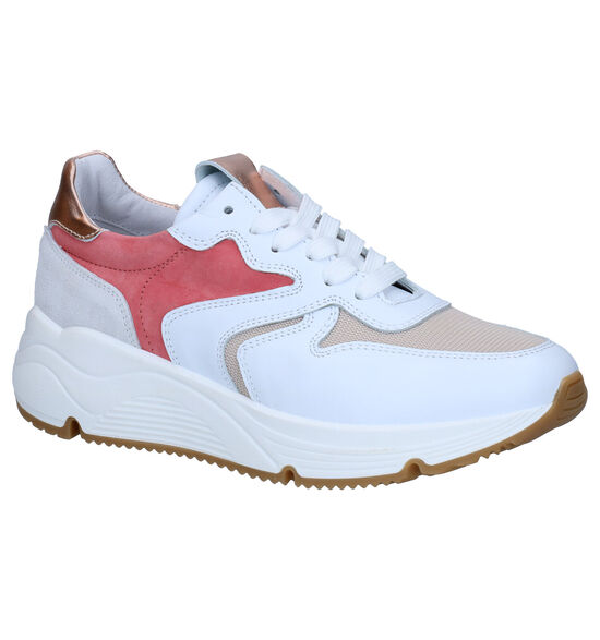 Hip Wit/Roze Sneakers