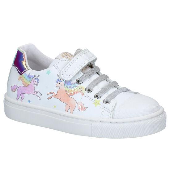 Little David Chaussures à velcro en Blanc