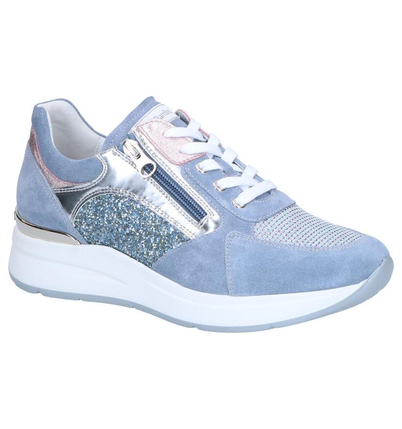 NeroGiardini Chaussures à lacets en Bleu clair en nubuck (282767)