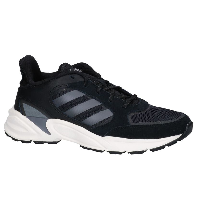 Zwarte adidas 90s Valasion Sneakers in leer (252605)