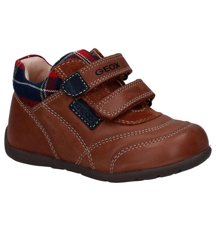 Geox Kaytan Chaussures pour bébé en Cognac en textile (278315)