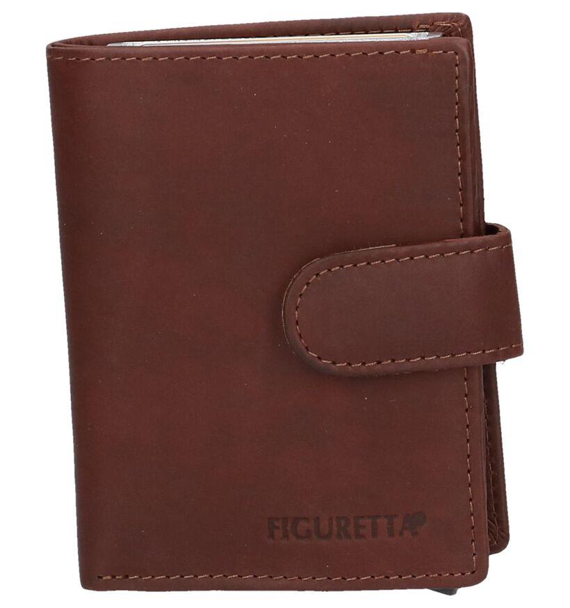 Euro-Leather Porte-cartes en Brun foncé en cuir (250637)
