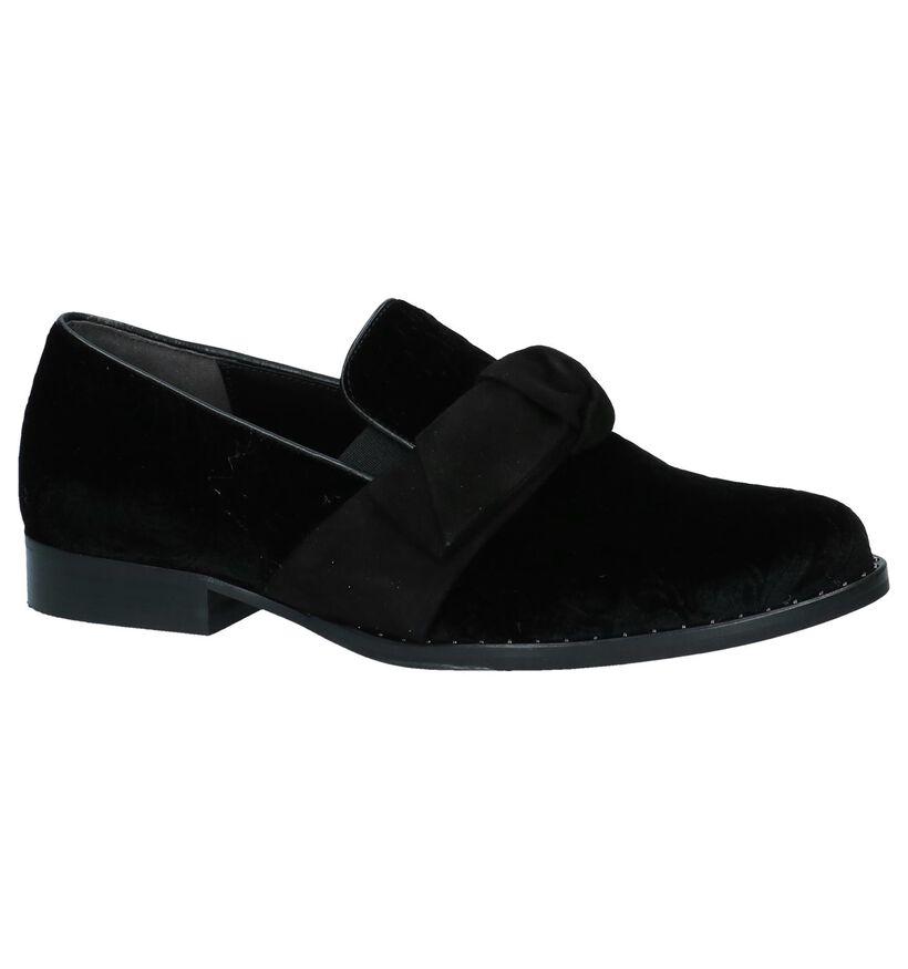 Gabor Loafers en Noir en velours (231246)