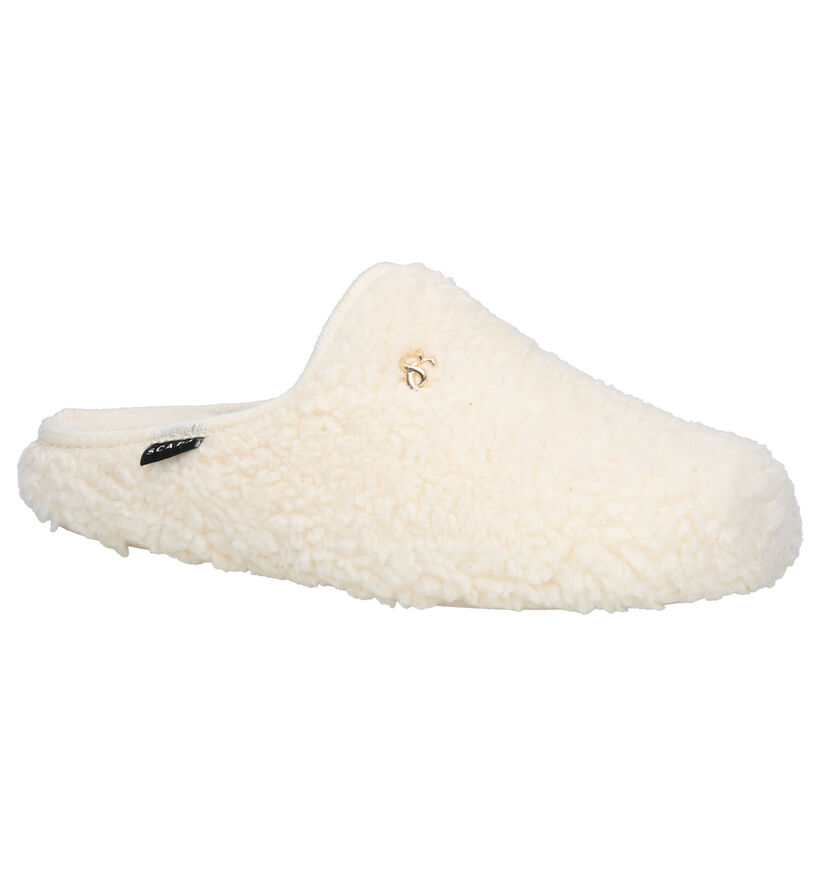 Scapa Ecru Pantoffels in faux fur (259186)