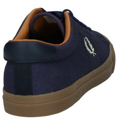 Blauwe Lage Geklede Sneakers Fred Perry in stof (208096)