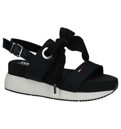 Tommy Hilfiger Modern Hybrid Sandal Bow Zwart met Dikke Zolen, Zwart, pdp