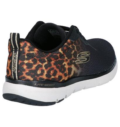 Skechers Flex Appeal 3.0 Chaussures de sport en Noir en textile (266934)