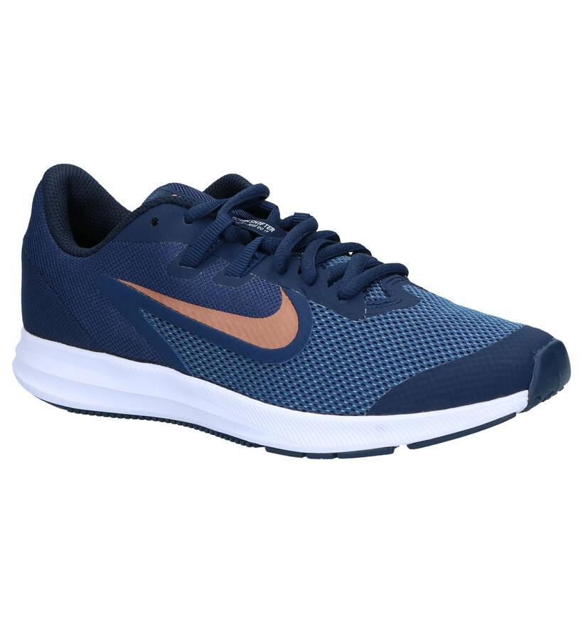 Nike Downshifter Baskets en Bleu en textile (261656)