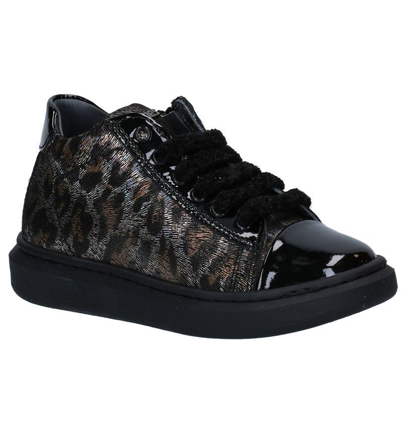 STONES and BONES Rinna Chaussures à lacets en Noir en cuir (279305)