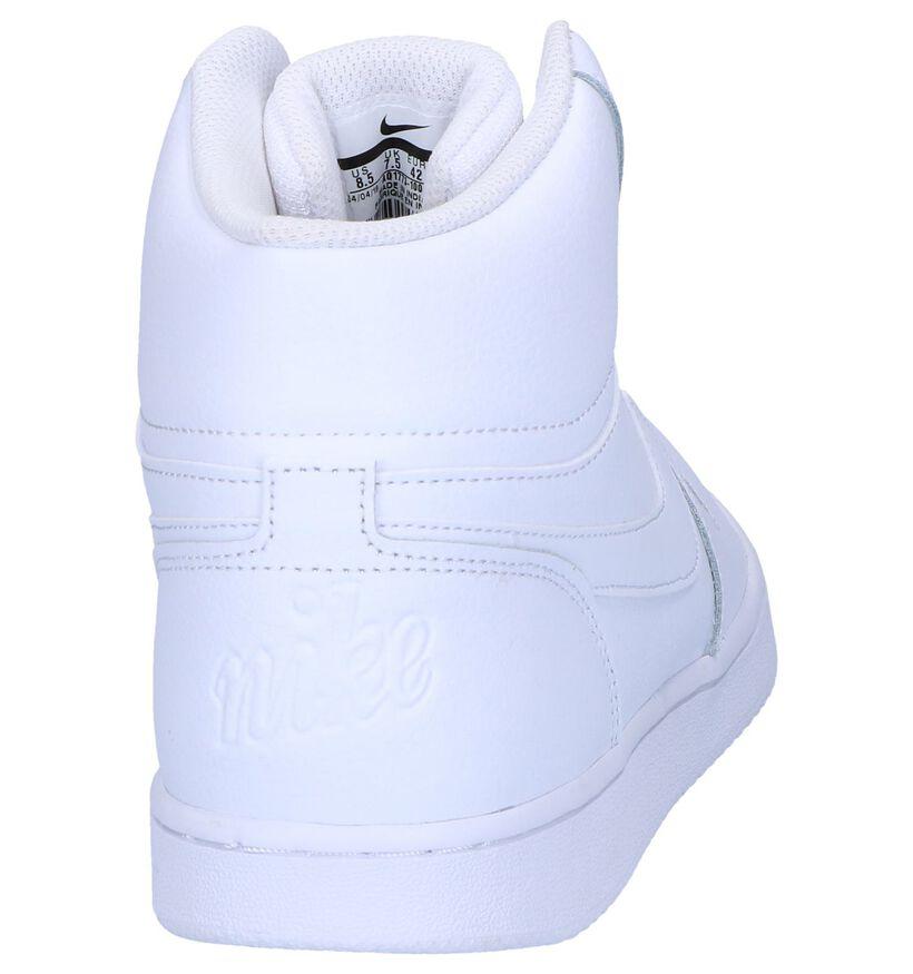 Zwarte Sneakers Nike Ebernon Mid in kunstleer (250336)