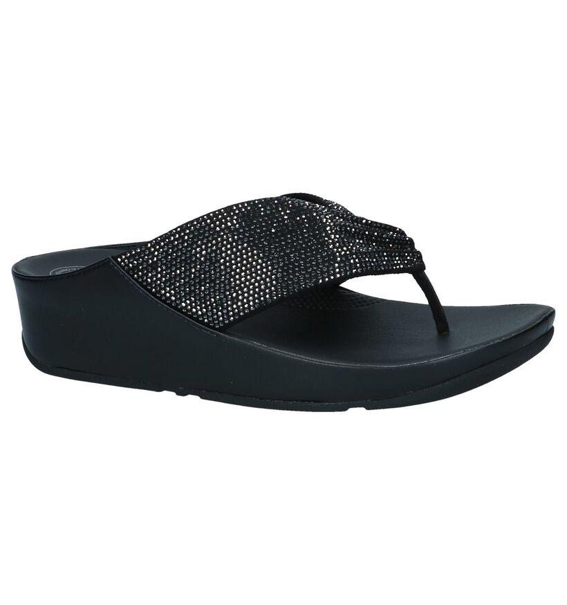 FitFlop Nu-pieds à talons en Noir en textile (240102)