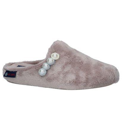 Scapa Pantoufles ouvertes en Rose clair en textile (227378)