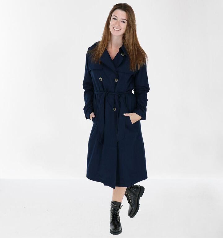 Vila Trench-coat en Bleu