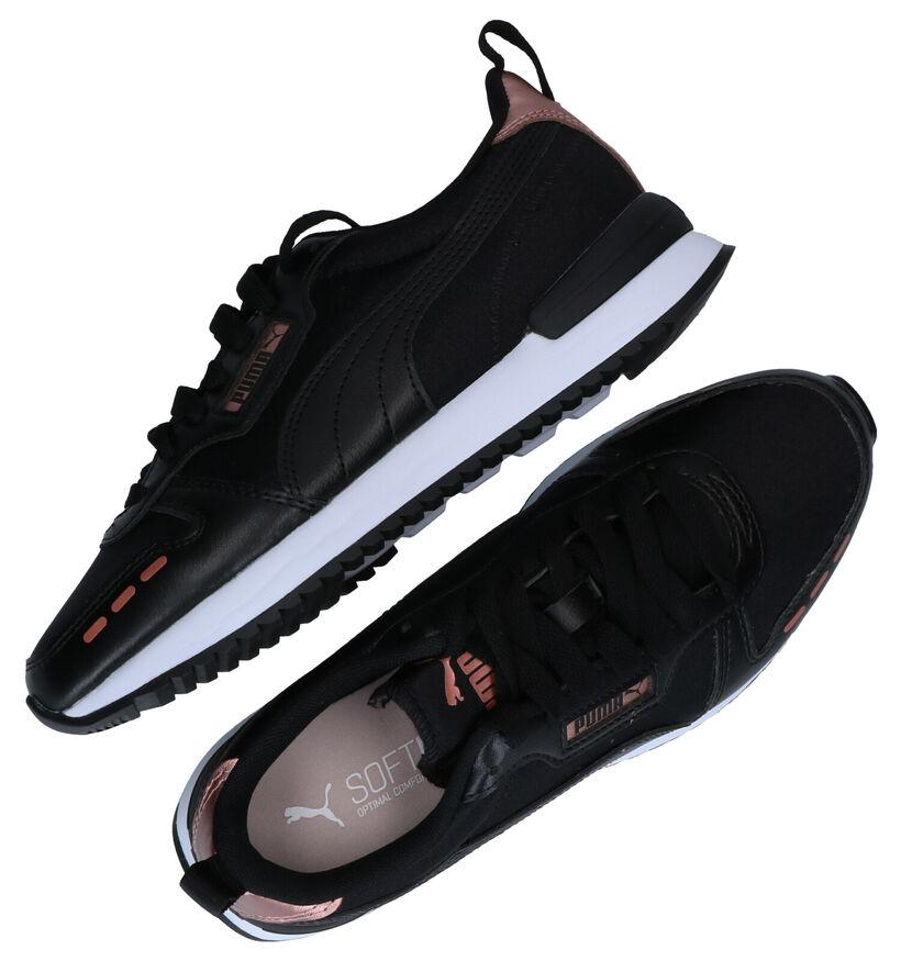 Puma Softfoam Baskets en Noir en simili cuir (276775)