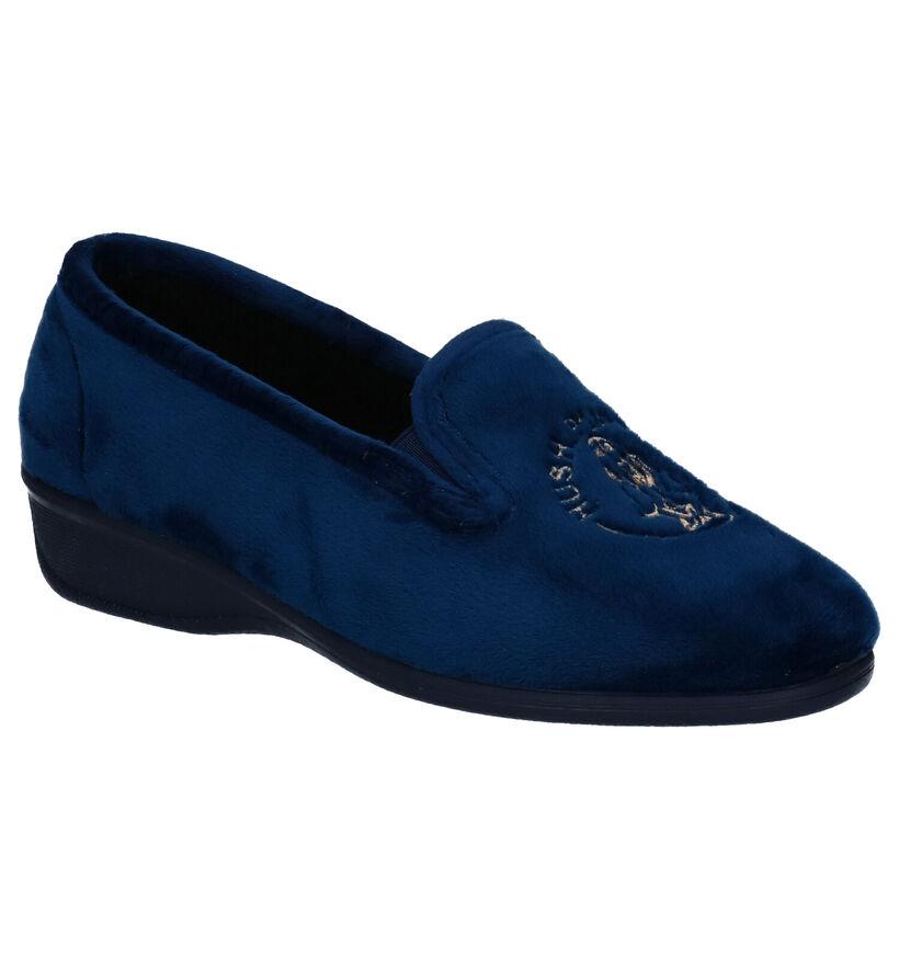 Hush Puppies Dashio Blauwe Pantoffels in stof (292702)