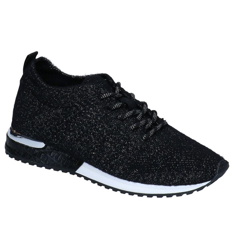 La Strada Baskets en Noir en textile (278701)