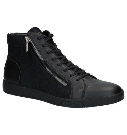 Calvin Klein Zwarte Sneakers in leer (255780)