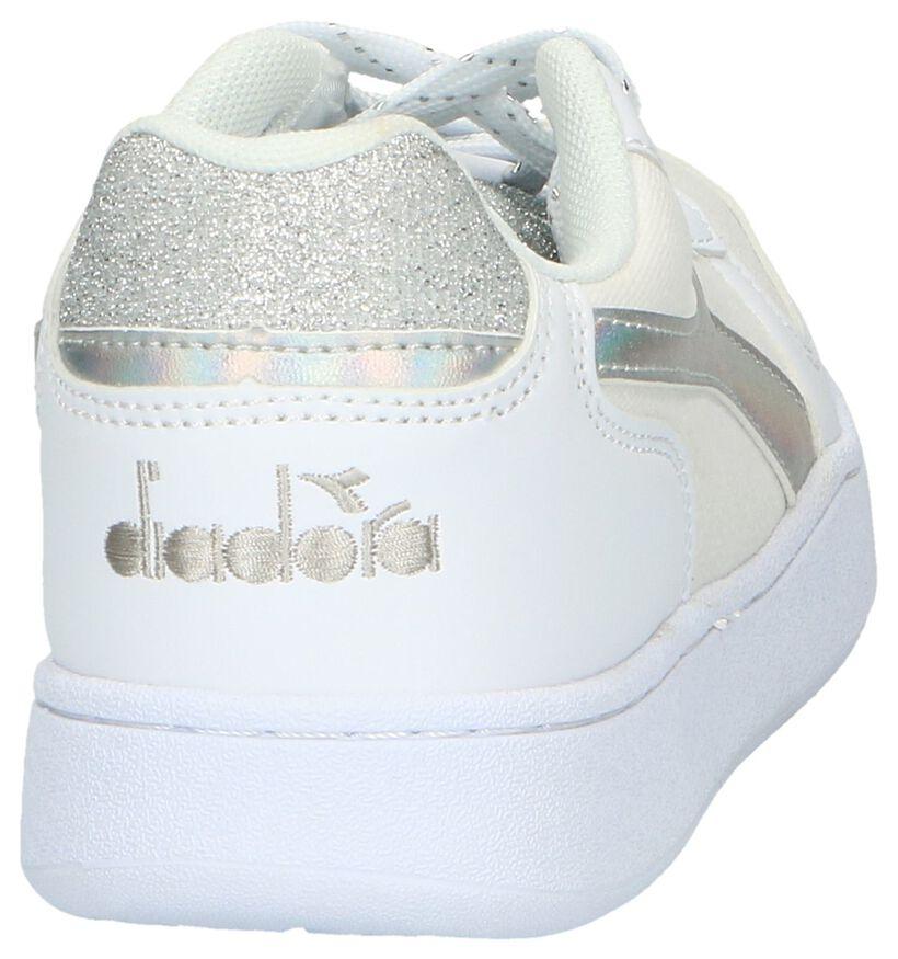 Diadora Playground Baskets en Blanc en simili cuir (267943)