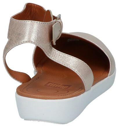 FitFlop Cova Closed-Toe Sandals Metallic Rose Gold, Roze, pdp