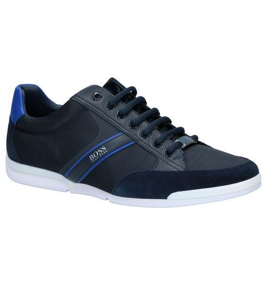 Hugo Boss Saturn Low Chaussures à Lacets en Bleu