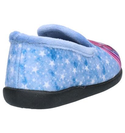 Milo & Mila Blauwe Pantoffels in stof (254985)