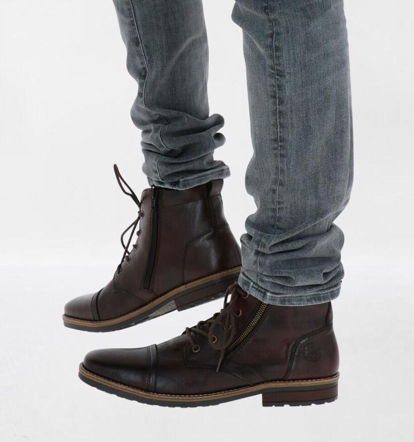 Rieker Chaussures hautes en Brun foncé en cuir (281820)