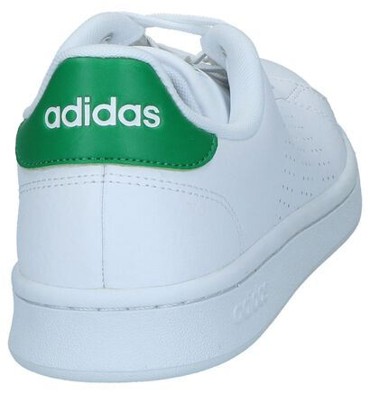 adidas Advantage Zwarte Sneakers in kunstleer (261839)