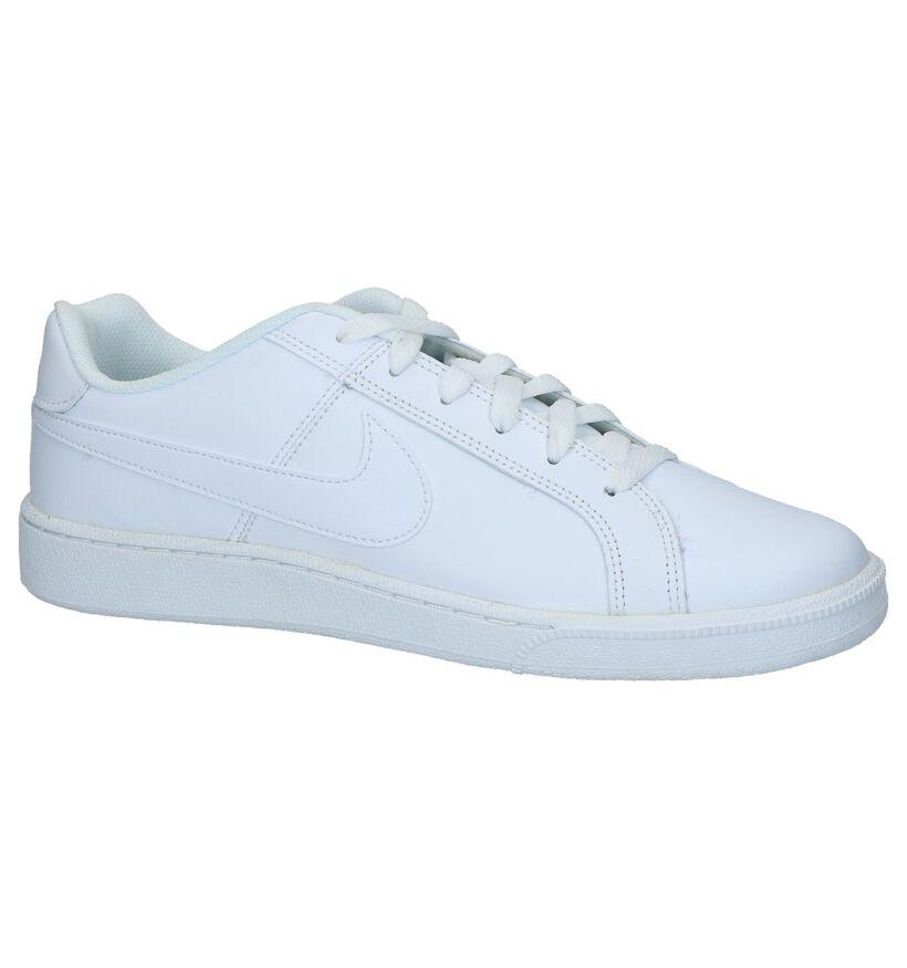 Nike Court Royale Baskets en Blanc en cuir (262194)
