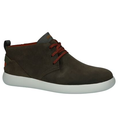 Camper Chaussures hautes en Vert kaki en daim (226154)