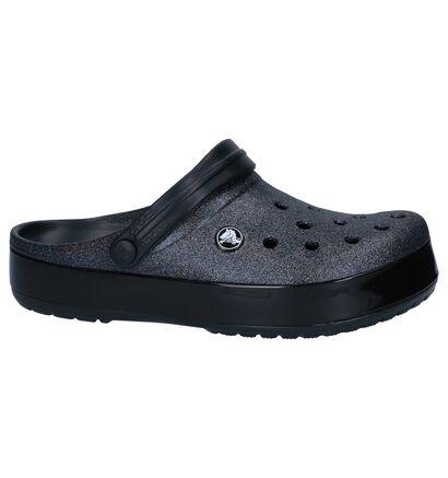 Zwarte Slippers Crocs Crocband Glitter in kunststof (244747)