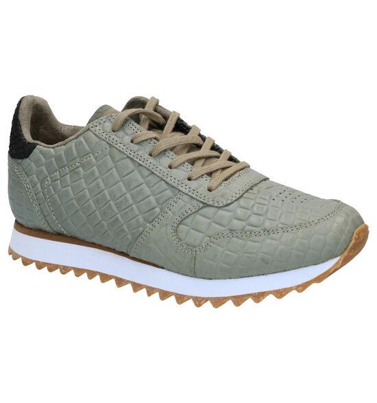 Woden Ydun Croco Sneakers en Kaki