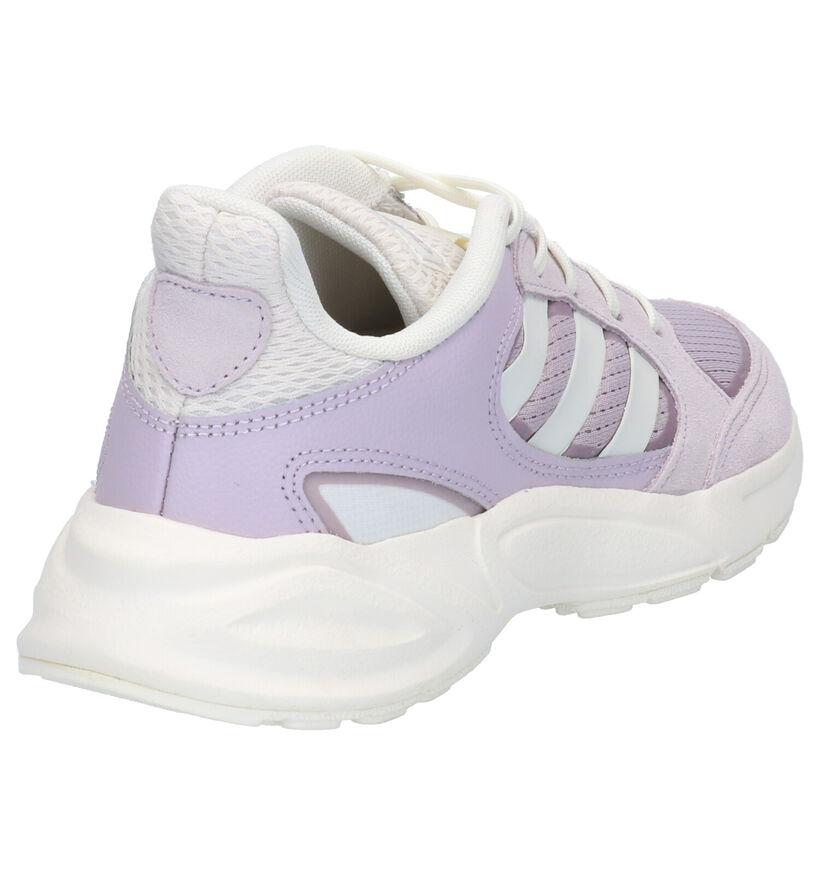 adidas 90S Valasion Blauwe Sneakers in daim (261512)