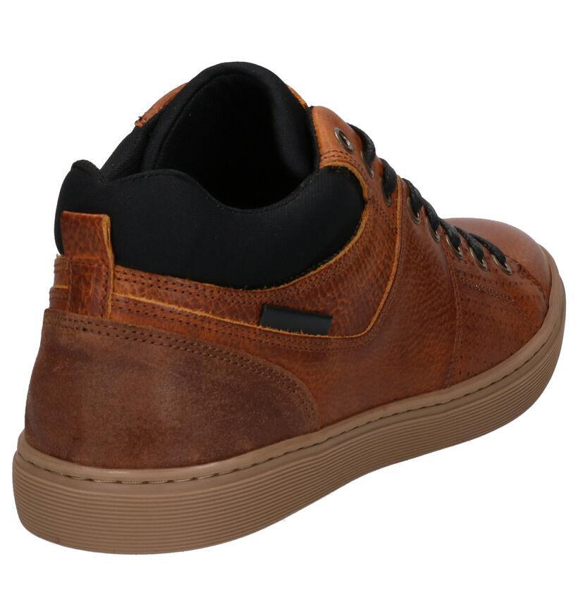Bullboxer Chaussures hautes en Cognac en cuir (252792)