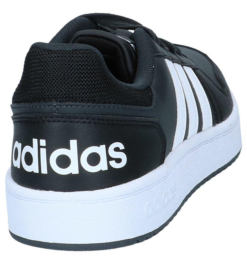 adidas Hoops 2.0 Baskets en Noir en simili cuir (237235)
