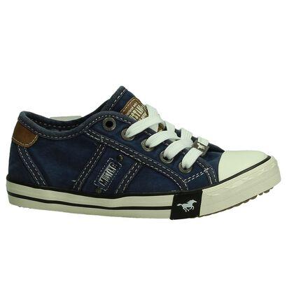 Donkergrijze Sneakers Mustang, Blauw, pdp